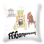 Eggamemnon Throw Pillow