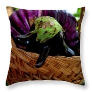Eggplants From Sicily Throw Pillow