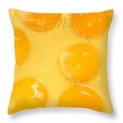 Eggs Yolk Throw Pillow