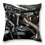 Egli-vincent Godet Motorcycle Throw Pillow