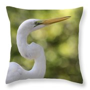 Egret Alphabet Throw Pillow