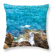 Egret Ewc Throw Pillow