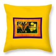 Egret In The Glory Throw Pillow