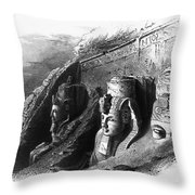 Egypt: Abu Simbel Throw Pillow
