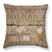 Egypt: Karnak Ruins Throw Pillow