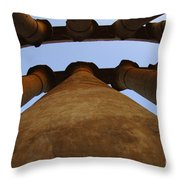 Egypt Luxor Pillars Throw Pillow