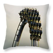 Egypt-montu Rollercoaster At Busch Throw Pillow