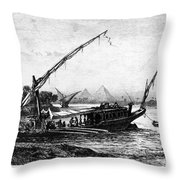 Egypt: Nile Transport Throw Pillow
