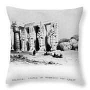 Egypt: Ramesseum Throw Pillow