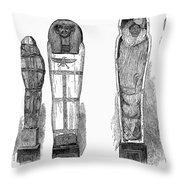 Egypt: Royal Mummies, 1882 Throw Pillow
