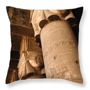 Egypt Temple Of Dendara Throw Pillow