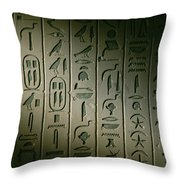 Egyptian Hieroglyphics Decorate Throw Pillow