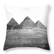 Egyptian Pyramids - C 1901 Throw Pillow