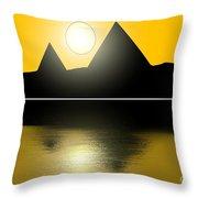 Egyptian Sunrise Throw Pillow