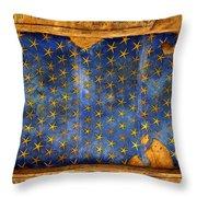 Egyption Night Sky Throw Pillow