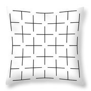 Ehrenstein Illusion Throw Pillow