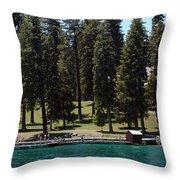Ehrman Mansion Lake Tahoe Throw Pillow