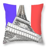 Eiffel De Gaul Throw Pillow