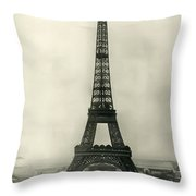Eiffel Tower 1890 Throw Pillow