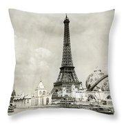 Eiffel Tower, 1900 Throw Pillow
