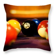 Eight Ball Throw Pillow