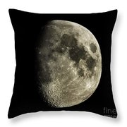 Eight-day-old Moon Throw Pillow
