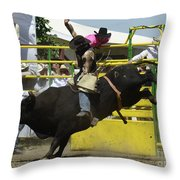 Rodeo Eight Seconds Throw Pillow