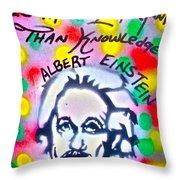 Einstein Imagination Throw Pillow