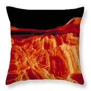 Eistla Regio Of Venus Throw Pillow