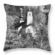Eklutna Church Throw Pillow