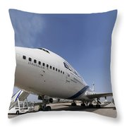 El-al Boeing 747-400 Throw Pillow
