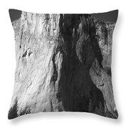 El Cap Face On Throw Pillow