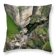 El Tayo River Gorge In Ronda Throw Pillow