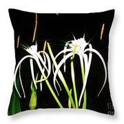 Elaines Flowers Throw Pillow