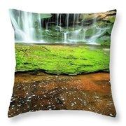 Elakala Falls Portrait Throw Pillow