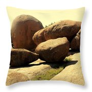 Elaphant Rocks 4 Throw Pillow