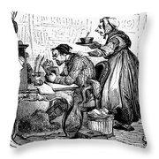 Elderly Couple Throw Pillow