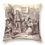 Eldons Hotel, Roundstone,connemara, Co Throw Pillow