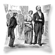 Election Cartoon, 1877 Throw Pillow by Granger