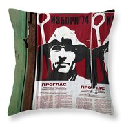 Elections 1974. Belgrade. Serbia Throw Pillow