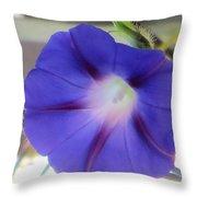 Electric Blue Light Throw Pillow
