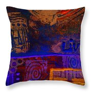 Electric Blue Patterns Throw Pillow