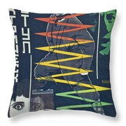 Electric Chair Throw Pillow