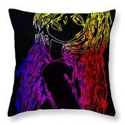 Electric Girl Throw Pillow