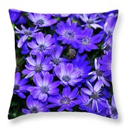 Electric Indigo Garden Throw Pillow