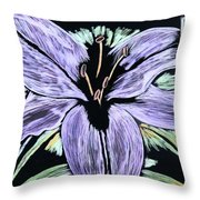 Electric Lily Phase Two Throw Pillow