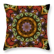 Electric Mandala 2 Throw Pillow