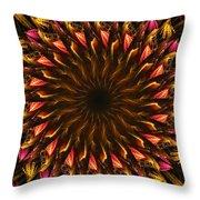 Electric Mandala 4 Throw Pillow