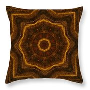 Electric Mandala 6 Throw Pillow