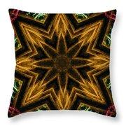 Electric Mandala 7 Throw Pillow